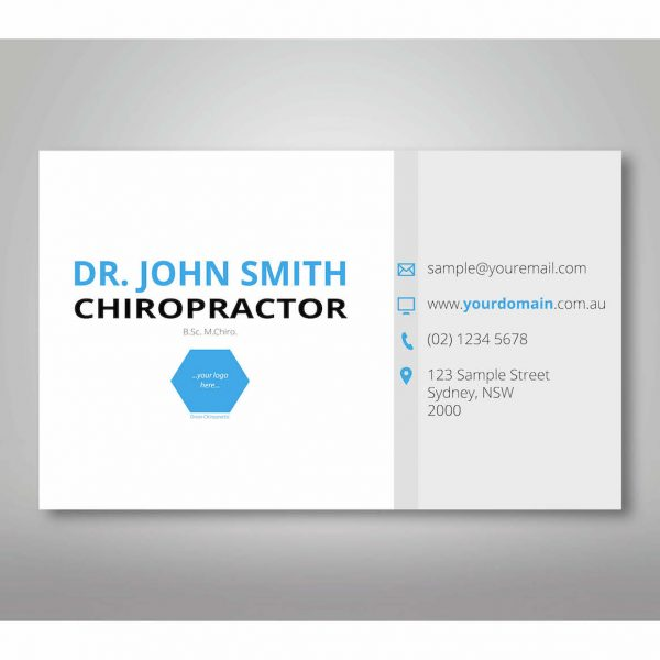 minimal-chiropractic-business-cards-single