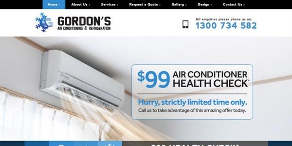 gordon's-airconditioning-website-design